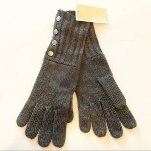 NWT Michael Kors Gray Knit Gloves